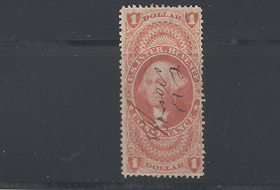 Stamps  Us  Revenue R66C $1 Red