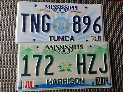 Lot of 2  MISSISSIPPI license plates