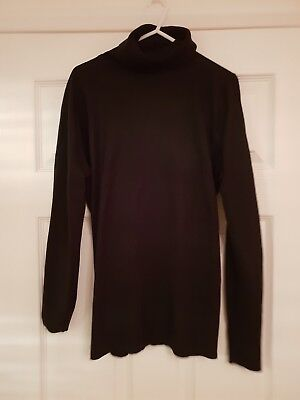 Next Black Maternity Jumper Size 12 Roll Neck