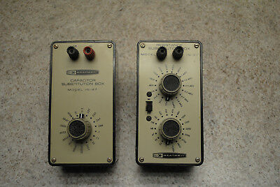Heathkit IN 47 and   IN 37 component substitution boxes