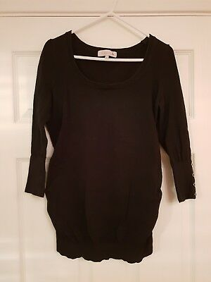 Red Herring Maternity Jumper - Size 10 - Black
