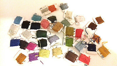 36 x partially-used DMC Embroidery & Cross-Stitch THREADS