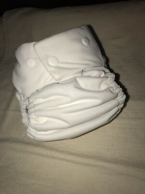 Softbums Echo OS Cloth Diaper AI2 Two Inserts Snaps Coconut