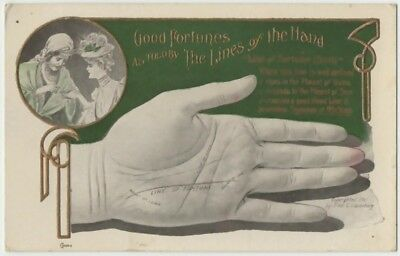 1907 Lounsbury Palm Reading Hand from Fortune Telling Series