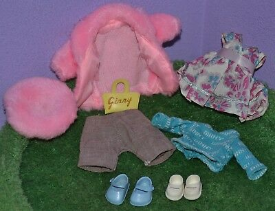 "Vogue Ginny Clothes Shoes Bag Purse 8"" Doll Vintage Pants Dress Coat Hat 50's"