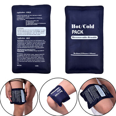 200g Reusable Gel Ice Pack Cold Pad Pain Relief Sport Compress Back TS