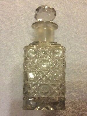 Vintage cut glass vinegar/oil.  bottle