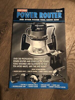Sears Craftsman Power Router And Other Power Know How
