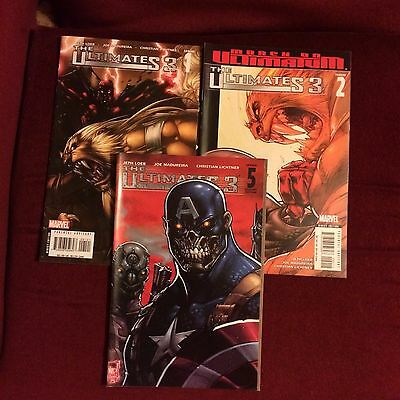 Marvel Comics The Ultimates 3 issues 1 2 5 2008 March on Ultimatum Iron Man