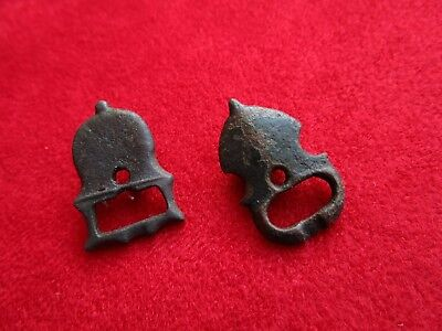 ROMAN ERA - 2 PIECES BRONZE BUCKLES . rare types