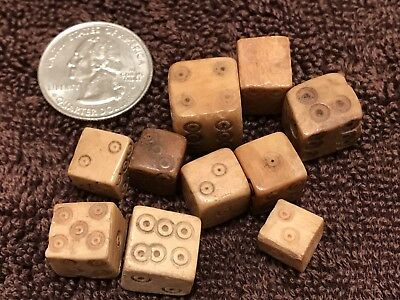 AMAZING GROUPING OF ANCIENT ROMAN CARVED DICE - CIRCA 2nd Century AD!!