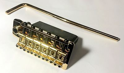 Quality 2-Point Tremolo Bridge GOLD 2-1/16'' & Full Steel Block for Strat Guitar