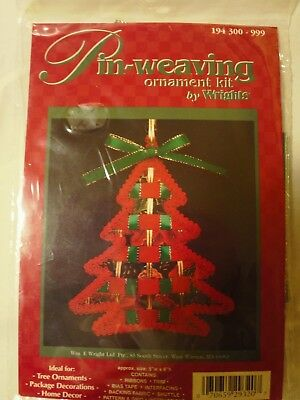 Pin-Weaving Ornament Kit. By Wrights. Tree Shape.