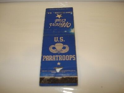 Original US WW2 US Paratroopers Officer's Club Camp Toccoa Matchbook