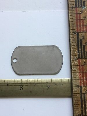 US Military Issue Dog Tag BLANK UNISSUED New Old Stock