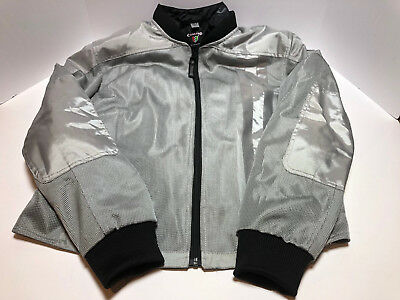 Corazzo Motorcycle Scooter Jacket - Ventata Silver - Size Large - Worn Once