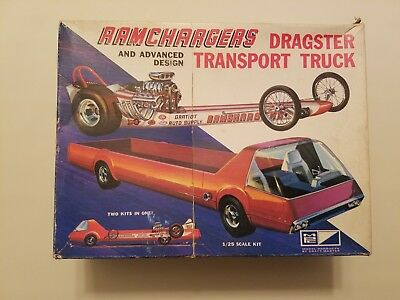 Vintage MPC 1/25 RAMCHARGERS DRAGSTER & TRANSPORT TRUCK