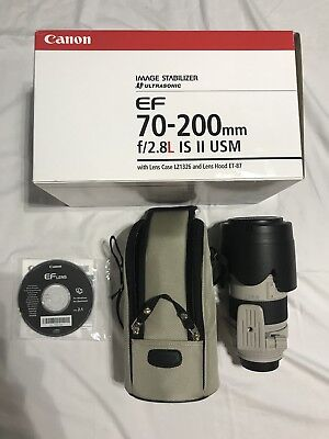 Mint Canon EF 70-200mm f/2.8 L IS II USM Lens with case