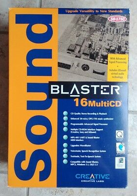 Vintage Creative Lab CT2230 Sound Blaster 16 MCD ISA Card w/disks and manuals