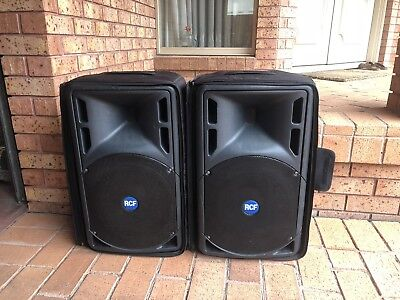"""RCF ART 322-A ACTIVE Pair TWO-WAY 12"""" Woofer LIVE SOUND PA SPEAKER System"""