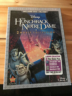 Disney The Hunchback of Notre Dame (Blu-Ray and DVD 2013) 2 Movie Collection