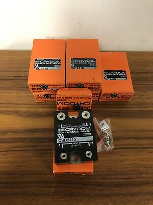 Lot of 6 New Crydom CSD2410 Solid State Relays in Box 10A @ 240VAC