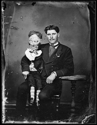 Antique Demonic Dummy Photo 449 Bizarre Odd Strange