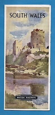 1950's SOUTH WALES Tourist Pamphlet by BRITISH RAILWAYS Excellent Condition