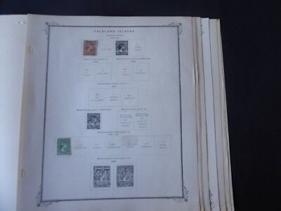 Falkland Islands 1878-1954 Stamp Collection on Scott Specialty Album Pages