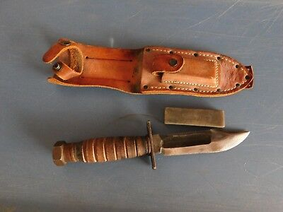 Vietnam War US Jet Pilot Survival Fighting Bowie Knife Camillus Blade Mark 64-66
