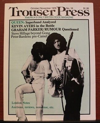 Trans-Oceanic Trouser Press #16-British Rock Magazine -Queen Kevin Ayers