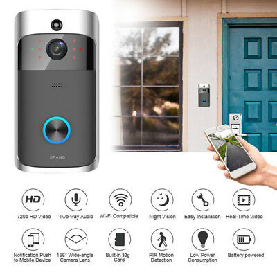 WiFi Ring Doorbell HD Smart Wireless Bell Video Camera Intercom Home Security US