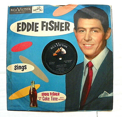 1950's RCA EDDIE FISHER STAR OF COKE TIME RECORD SLEEVE WITH 78 RPM RECORD