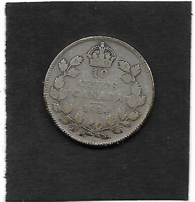 1934 Canada 10 cents silver