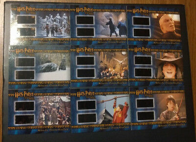 2005 ArtBox Harry Potter Sorcerer's Stone Dual Film Cell Set VERY RARE 9 Total