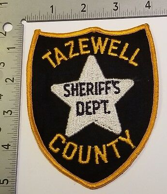 Old Vintage Tazewell Co Tennessee Tn Sheriff Police Marshal Lawman Patch Star Os