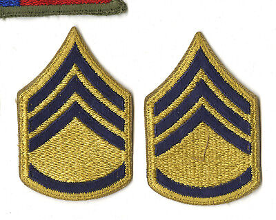 Pair Of Early Post Wwii Combat Career Soldier Sergeant Chevrons 1949-51