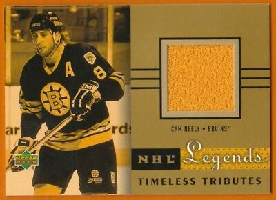 2001-02 UD NHL Legends Hockey Timeless Tributes Cam Neely Jersey -Boston Bruins