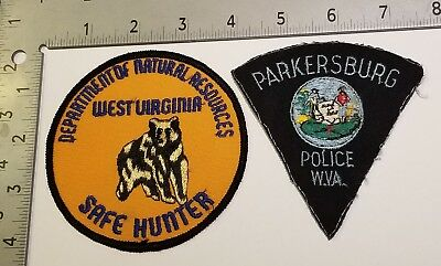 2 Wv West Virginia Police Dnr Sheriff Safe Hunter Patches Parkersburg Bear