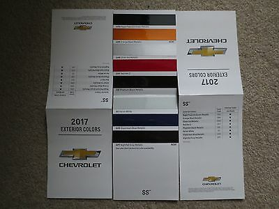 2017 Chevrolet Ss Nascar Style Dealer Showroom Color Chip Brochure New And Cool