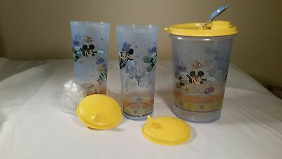 New Tupperware Mickey Mouse Handolier and Tumbler Set