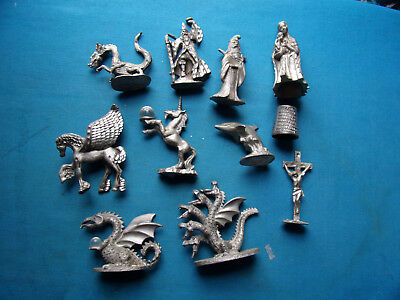 Fantasy Magic & Dragons / Religious Spoontiques / Cuter Pewter Dragon Lot of 11