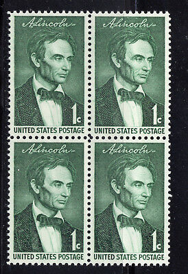 Abraham Lincoln ** President 1861-1865 ** Us Postage Stamps Block Of 4 Mint