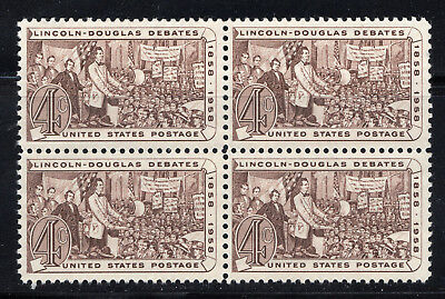 Abraham Lincoln ** President 1861-1865 ** Us Postage Stamp Block Of 4 Mint