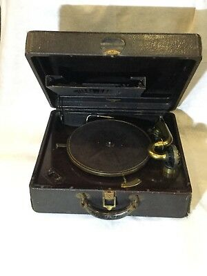 WORKING Victor Victrola Phonograph Portable Suitcase Model VV 2-55 Ca 1928