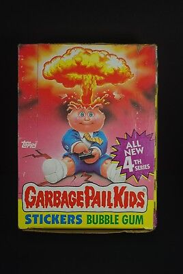 Vtg 1986 Topps Garbage Pail Kids Cards 4th Series Wax Box 41 Unopened Packs Lot