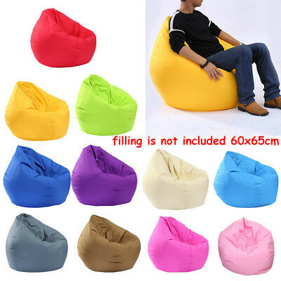 Unfilled Bean Bag Cover without Filling Beanbag Chair Soft Lazy Sofa Beanless US