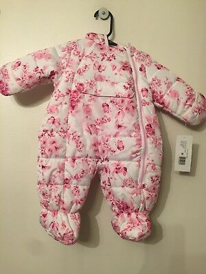 Baby Girl Snowsuit R1881 By Rothschild Size 3/6 Month New With Tags