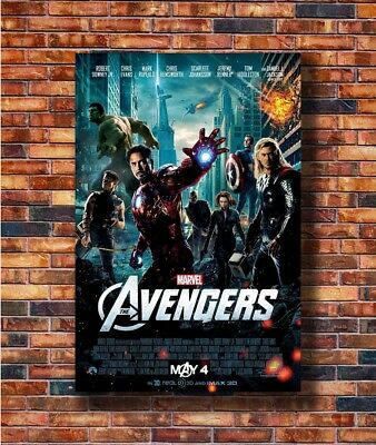Hot Fabric Poster THE AVENGERS Movie Marvel Comics Iron Man Hulk Thor 40x27 Z215