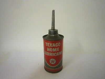 Vintage 1962 Texaco Home Lubricant 3 oz Original Oiler Can